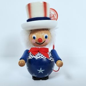 Steinbach Christmas Ornament Wooden Uncle Sam
